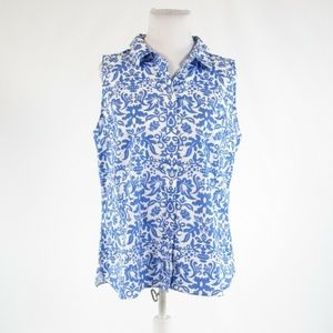 White blue TALBOTS button down blouse 16P
